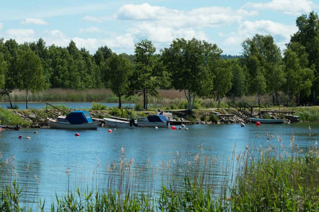 Boote in Mittelschweden